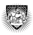 bodybuilder shield vector image