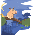 fairy tale about pig and a small river vector image vector image