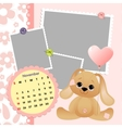 Babys monthly calendar for 2012 vector image vector image