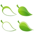 creative nature leafs set green color vector image
