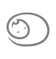 cute sleeping cat symbol icon vector image