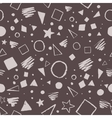 Dark monochrome geometric pattern vector image