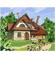 fabulous stone house vector image
