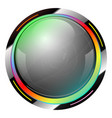 green shiny button with metallic elements design vector image