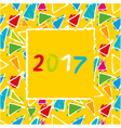 Spanish Calendar 2017 template vector image