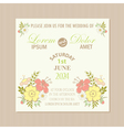 spring floral wedding invitation card vector image
