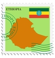 mail to-from Ethiopia vector image