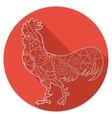 Flat icon of cock vector image vector image