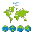 Sketch Globes Collection vector image