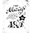 always in love vector image