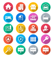 Real estate flat color icons vector image vector image