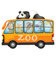 Animals on bus vector image vector image