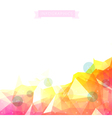 Geometric low poly background infographics vector image
