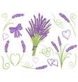 lavender design elements vector image