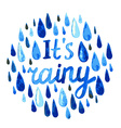 watercolor rain vector image vector image