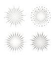 Starburst fireworks shapes vector image