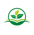 Logo leaves mashed drugs organic product icon ve vector image