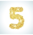 Five number in golden style vector image