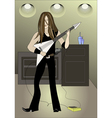 guitarplayer vector image