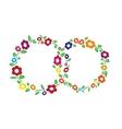Colored vintage Flower ring frame decoration vector image