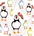 puffin bird pattern vector image