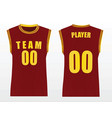 basketball uniform vector image
