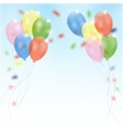Birthday party background with flying balloons and vector image