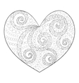 Cute heart with high details vector image