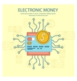 Electronic money concept vector image