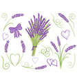 lavender design elements vector image