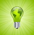 Light bulb earth icon vector image