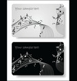 music cards templates vector image