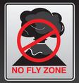 no fly zone vector image
