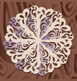 white paper christmas snowflake on a wood vector image
