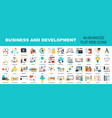 Business and development vector image