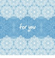 ornamental pattern card vector image vector image
