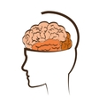 Thinking and brain design vector image