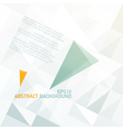 abstract triangle shapes background vector image