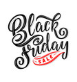 black friday sale hand drawn lettering vector image