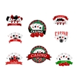 Casino and gambling badges icons or emblems vector image