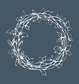 decorative laurel wreath isolated on gray vector image