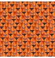 Halloween seamless pattern with mask vector image