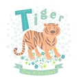 Letter T - Tiger vector image