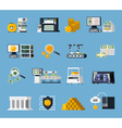 Money Manufacturing Icons Set vector image