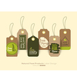 organic healthy food product tag and label vector image