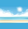 sky sea and sun vector image