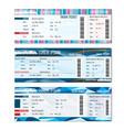 Train tickets set vector image