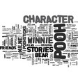 winnie the pooh character text word cloud concept vector image