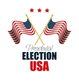 two flags waving usa election graphic vector image