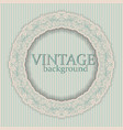 round frame with vintage ornament vector image